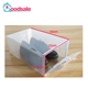 2017 Simple Practical Plastic Clear Men Storage Shoe Display Box Stackable storage trainers organiser box