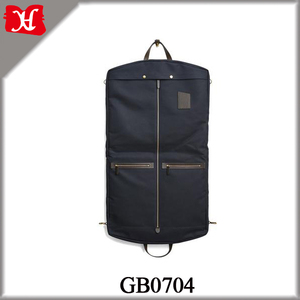 Wholesale Men Vintage Waxed Canvas Suit Bag Weekender Foldable Garment Bag