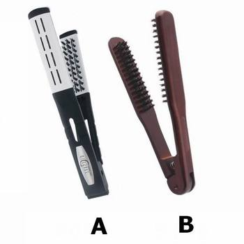 Plastic Double Sided Hair Straightening Boar Bristle Brush