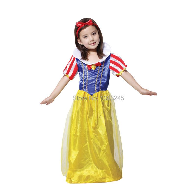 Halloween Girls Princess Fancy Dress Up Costume Outfits: Aliexpress.com : Buy Sassy Prestige Snow White Long Dress