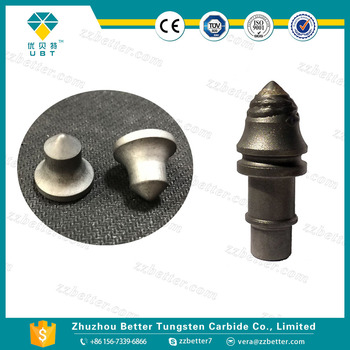 Cemented carbide rods tips for oil-field drill bits