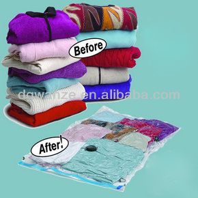 Vacuum Plastic Bags Clothes Storage With Pump
