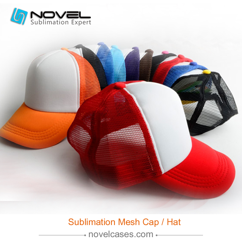 High Quality DIY personality sublimation Trucker Mesh <strong>Cap</strong>