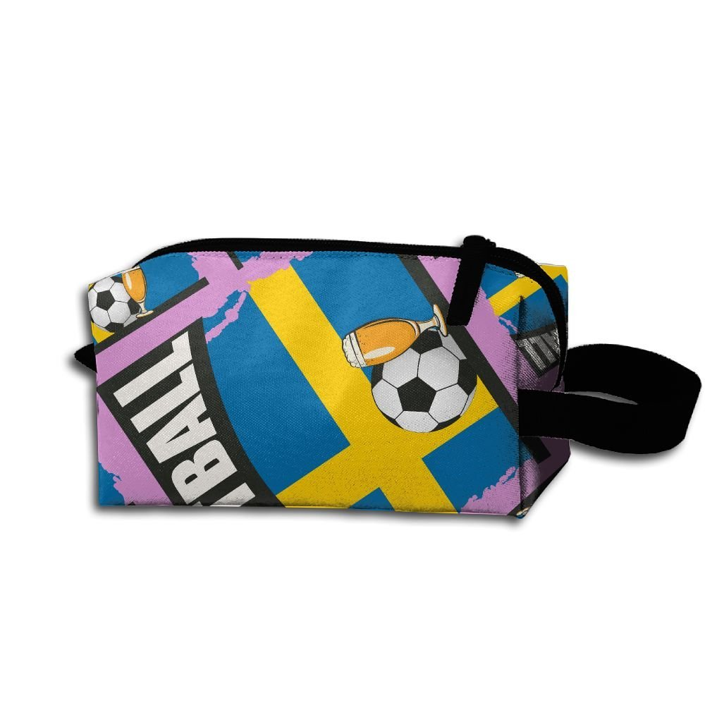 b3ff228f9a1f Get Quotations · Z45w CUBE Football Beer Soccer Sweden Men   Women Toiletry  Shaving Kit Organizer Super Funny Portable