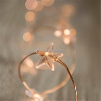 String lights on copper wire led Christmas star starry lighting soft warm white with white or black DC plug