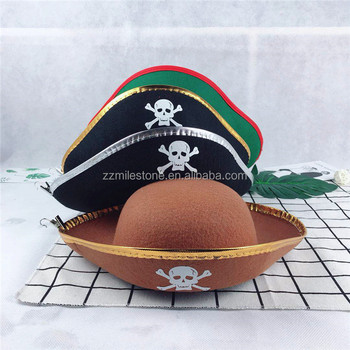 314e2b61d38 Custom Halloween Pattern Skull Crazy Hats For Sale Pirate Hat - Buy ...