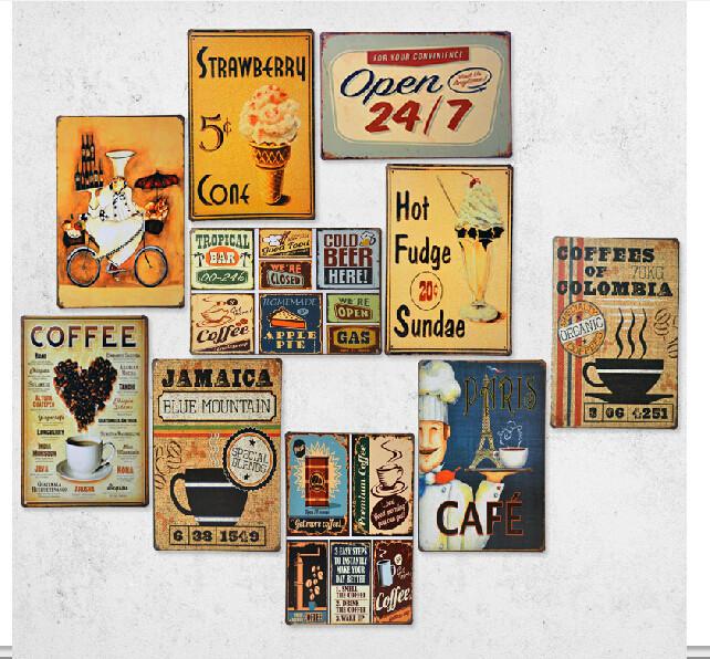 d coration murale cuisine vintage. Black Bedroom Furniture Sets. Home Design Ideas