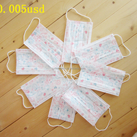 Medical Disposable Nonwoven 3 Ply Face Mask