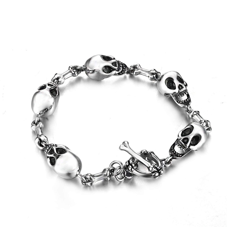 a1fc3d4d2b011 Cheap Stainless Steel Skull Bracelets For Men, find Stainless Steel ...