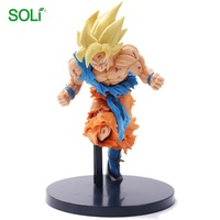 Classical anime cartoon characters goku dragon ball z figures