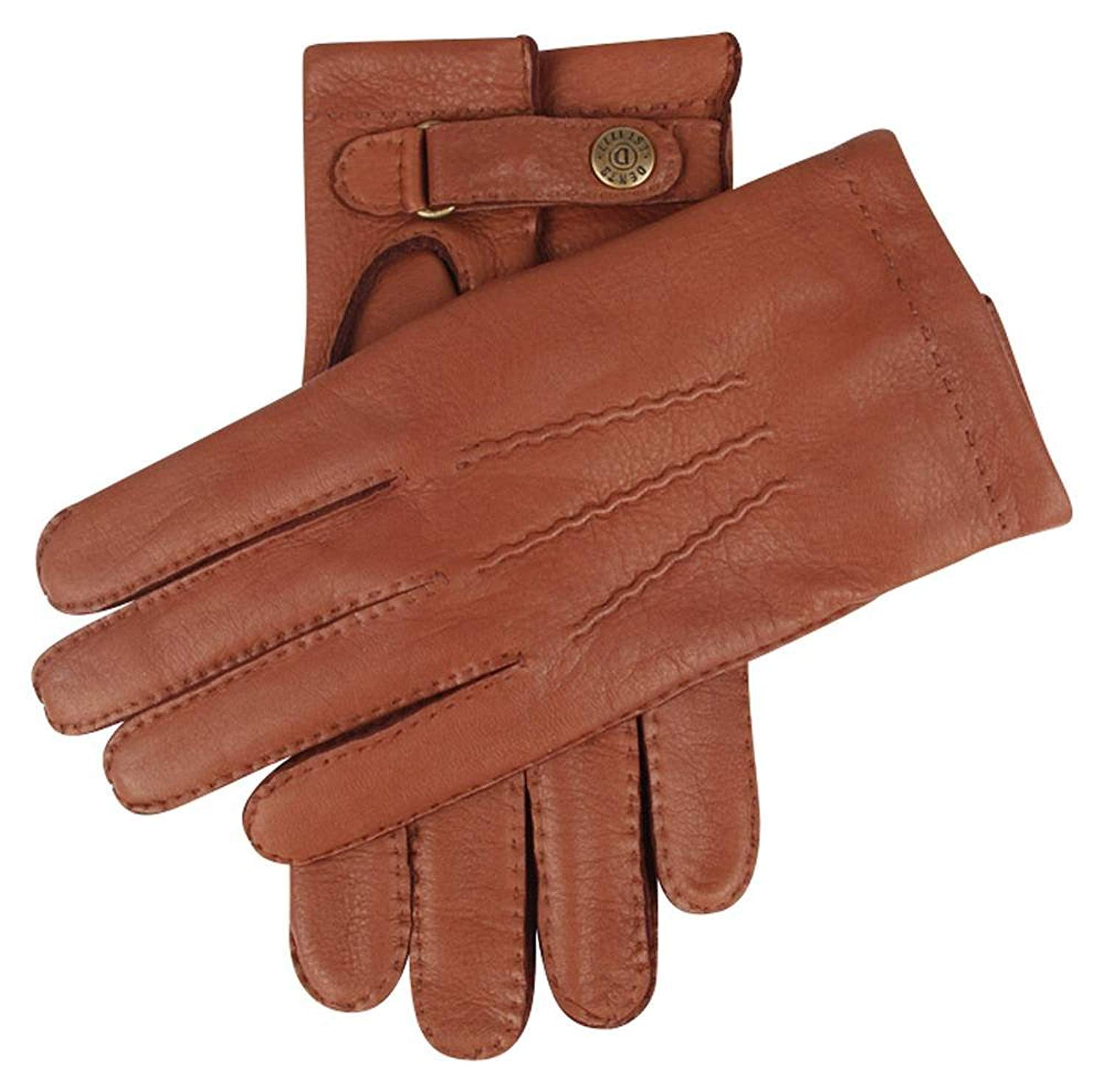 992bb54c44ad4 Get Quotations · Dents Mens Canterbury Cashmere Lined Deerskin Leather  Gloves - Havana Brown