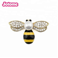 Bumblebee accessories jewelry yellow rhinestone pearl queen honey bee brooch