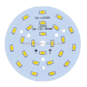 Round 12v Led Light Circuit Board 7w 9w 12w 18w Aluminium Pcb Board ...