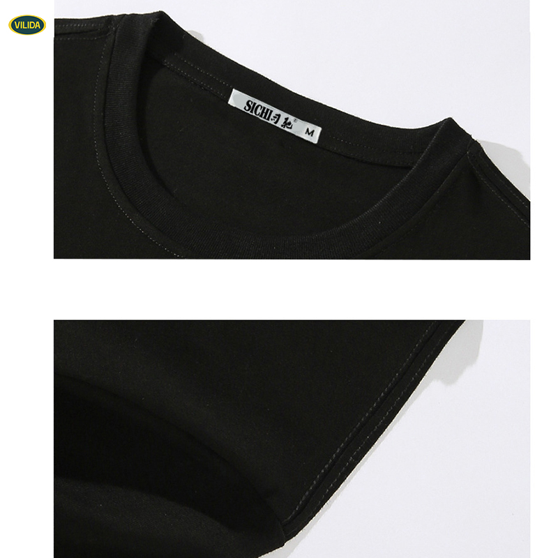 Manufacturer Custom Three Color Combination Raglan Sleeve V Shape T Shirt