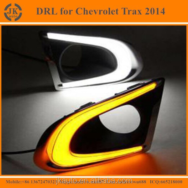 New Arrival Light Guide Style LED Daytime Running Light for Chevrolet Trax Super Bright LED DRL for Chevrolet Trax 2014