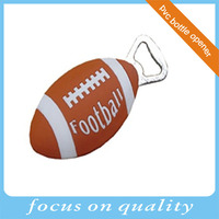 3d soft rubber pvc customized talking soda beer drink football bottle opener