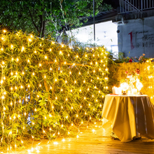 Wedding Net Mesh Fairy Gordijn <span class=keywords><strong>Diwali</strong></span> Vakantie Led Decor Kerst Netto Licht