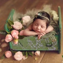 New baby photo props professional baby retro metal bathtub props