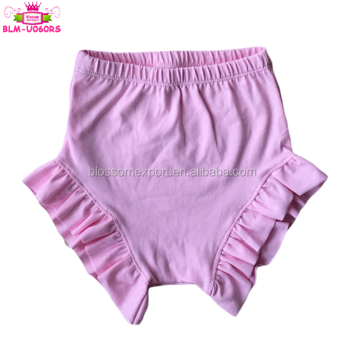 Toddler Kids Underwear Girls Ruffle Shorts Diaper Covers Baby Girl's Cotton Ruffle Bloomers Bummies