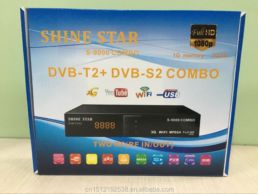 FULL <strong>HD</strong> <strong>MPEG4</strong> DVB-S2+ DVB-T2 combo <strong>receiver</strong>