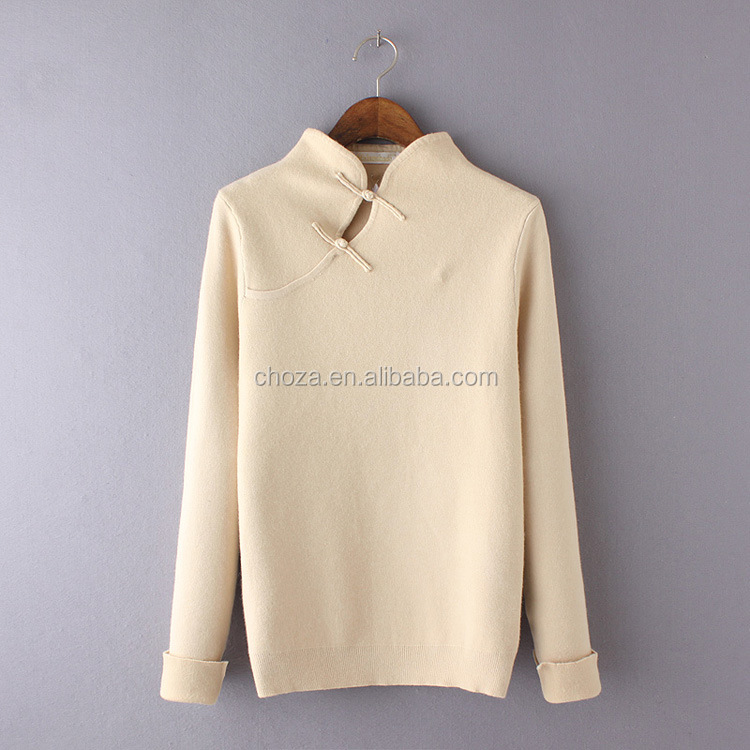 C22713B China Old Fashion Vintage Styles Female Rabbit Velour Sweaters Lady Cheongsam Sweaters