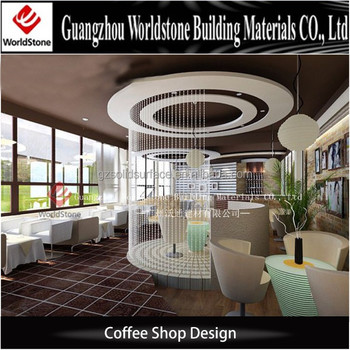 Cafe Shop Furniture Sets Round Marble Coffee Shop Tables