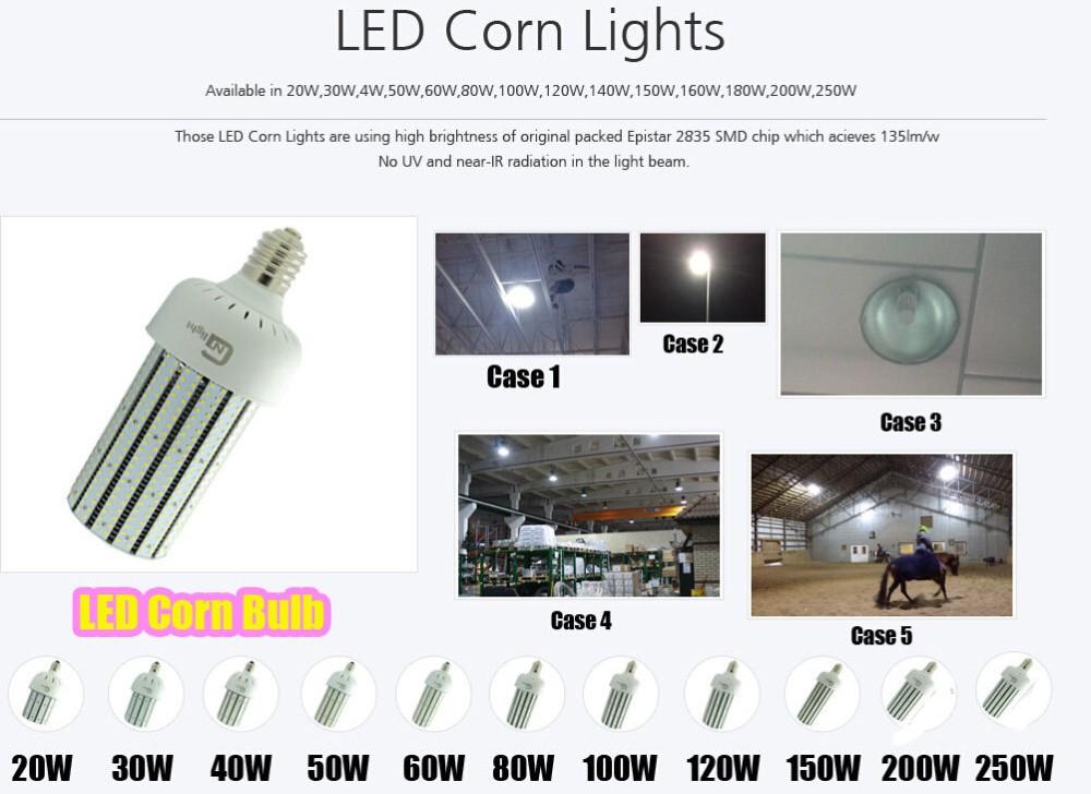 250 Watt Led Corn Cob Bulb Lights 34425lm Mogul Base Replace 1000 ...