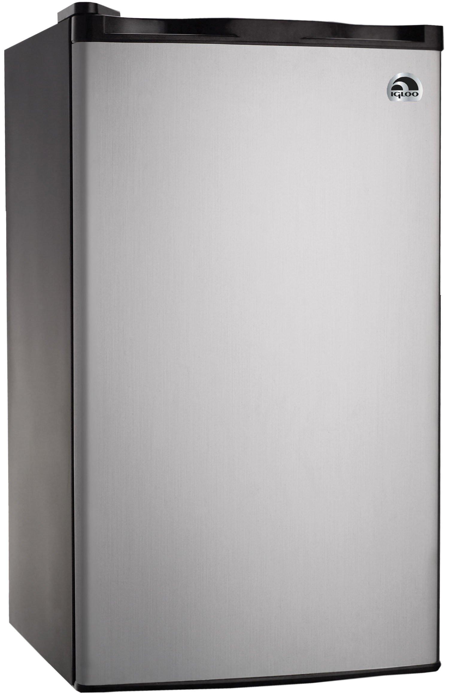 RCA RFR321-FR320/8 IGLOO Mini Refrigerator, 3.2 Cu Ft Fridge, Stainless Steel