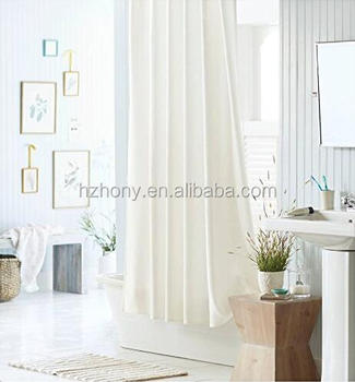 Water Repellent Antibacterial White Mildew Resistant Fabric Waterproof Shower Curtain