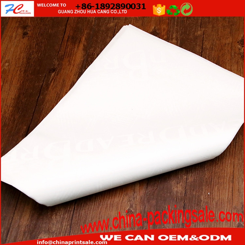 High Quality Printed Sandwich Paper Grease proof custom printed sandwich wrapping paper