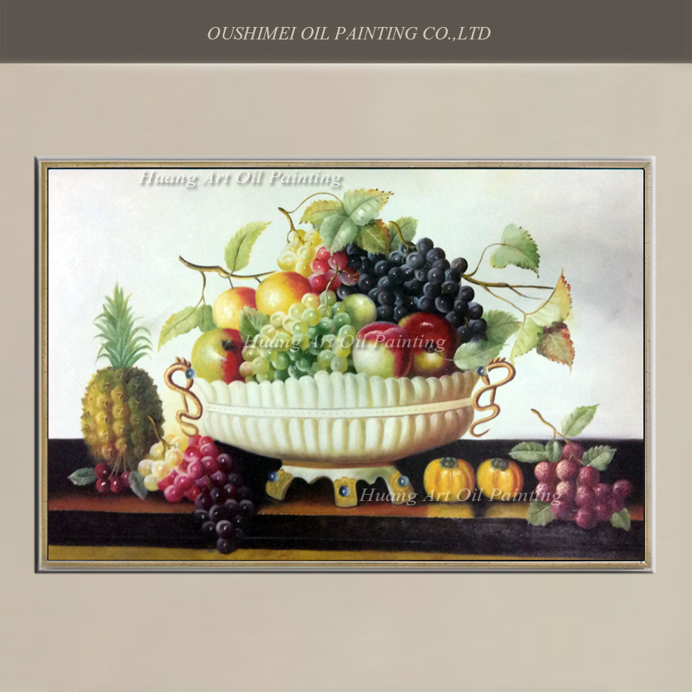 2017 Wall Art Fruit Grape Red Wine Glass Picture Art For: Popular Fruit Bowl Painting-Buy Cheap Fruit Bowl Painting