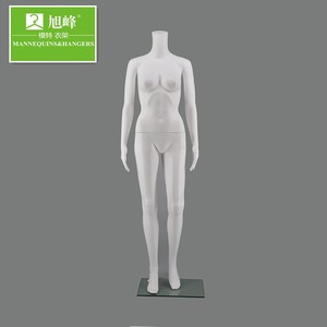 Wholesale headles white used plastic female mannequins for clother diaplsy