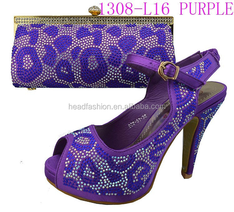 and L16 purple and bags gold bags shoes 1308 matching shoes beads IgAwqxxaO