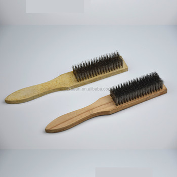 304 201 Stainless Steel Wire Brush For Ceramic Anilox Roller Cleaning With Wood Handle Buy 201 Stainless Steel Wire Brush304 Stainless Steel
