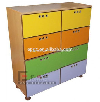 Guangzhou Kids Toys Cupboards Daycare Shelves Cabinet Baby Storage