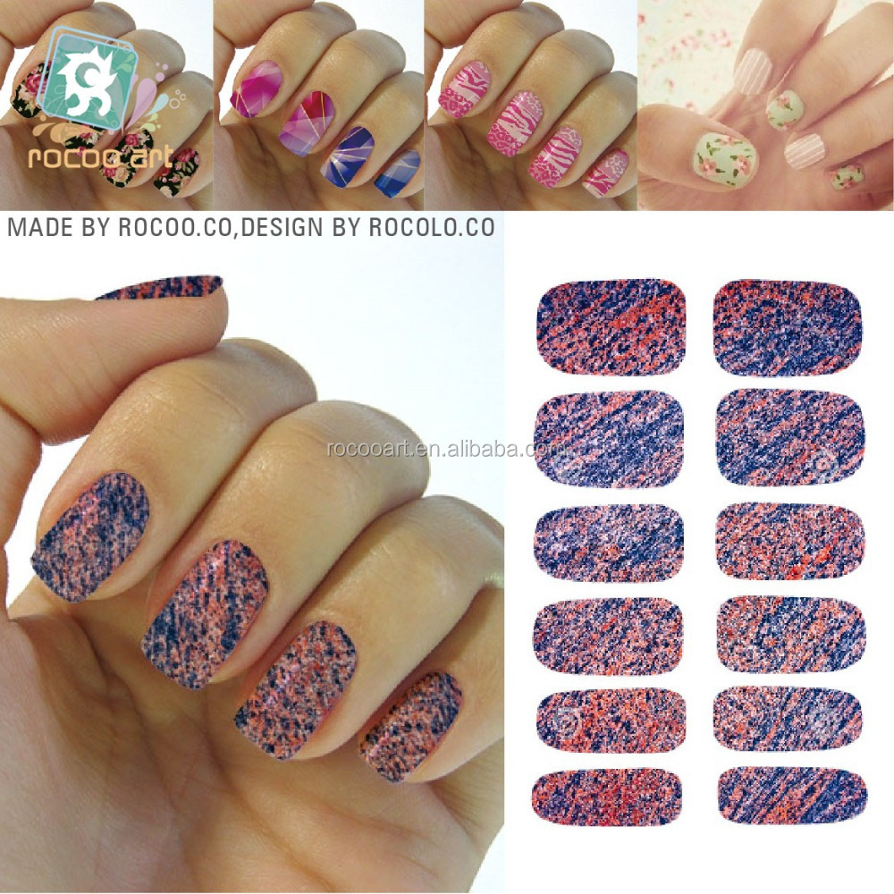 K5742200 Different Nail Art Designs Sexy Purple Red Marble Stone