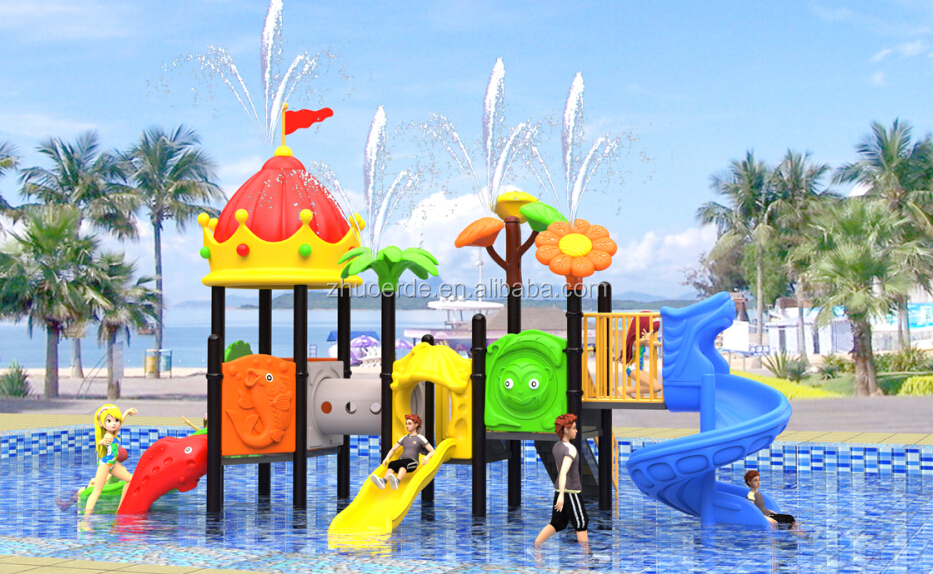 Children funny flying animal theme water slide kids plastic swimming pool Outdoor Playground equipment for home