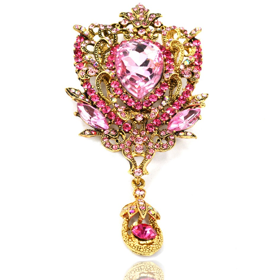 419985abcb9f5 Luxury Diamond Flowers Brooch Gold Plated Water Drop Pendant Pins Fur  Clothing Accessories Brooches - Buy Crystal Flower Brooch,Water Drop  Pendant ...