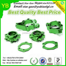 Precision green anodized CNC machined ATV components from China factory
