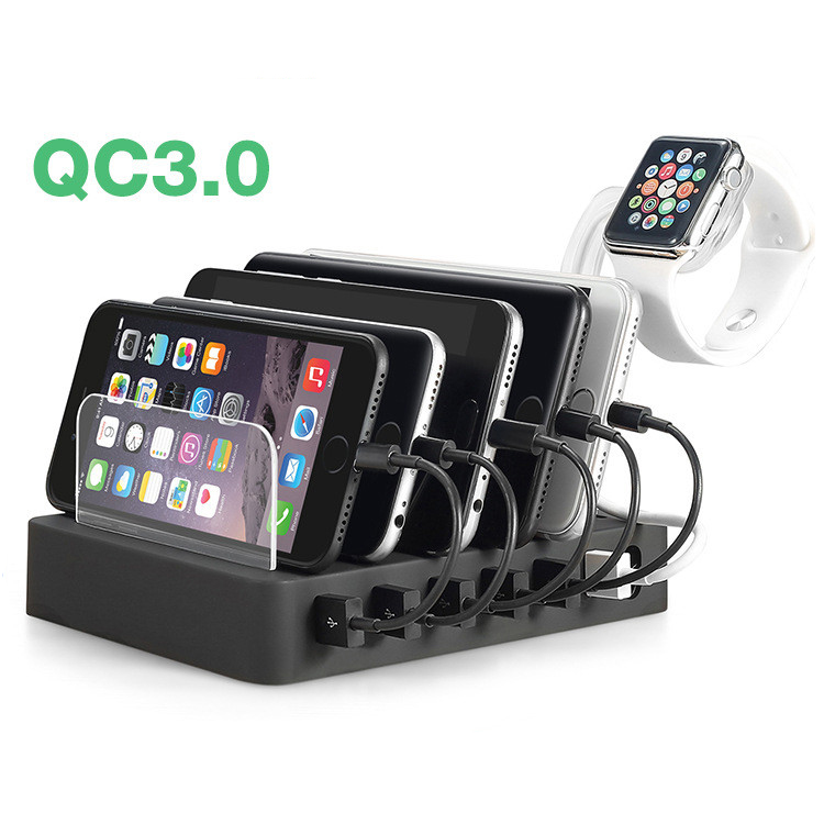 6 Port USB QC 3.0 Quick Charger mobile Cell Phone Charging Station