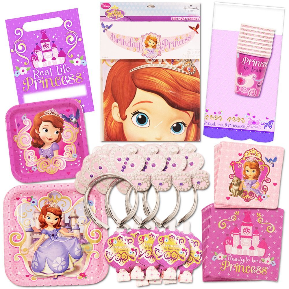 Disney Sofia the First Party Supplies Ultimate Set-- Party Favors, Birthday Party Decorations, Plates, Cups, Napkins and More!