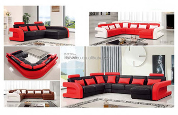 Bisini Luxury Living Room Red Leather Sofa Furniture, View red sofa, BISINI  Product Details from Zhaoqing Bisini Furniture And Decoration Co., Ltd. on  ...