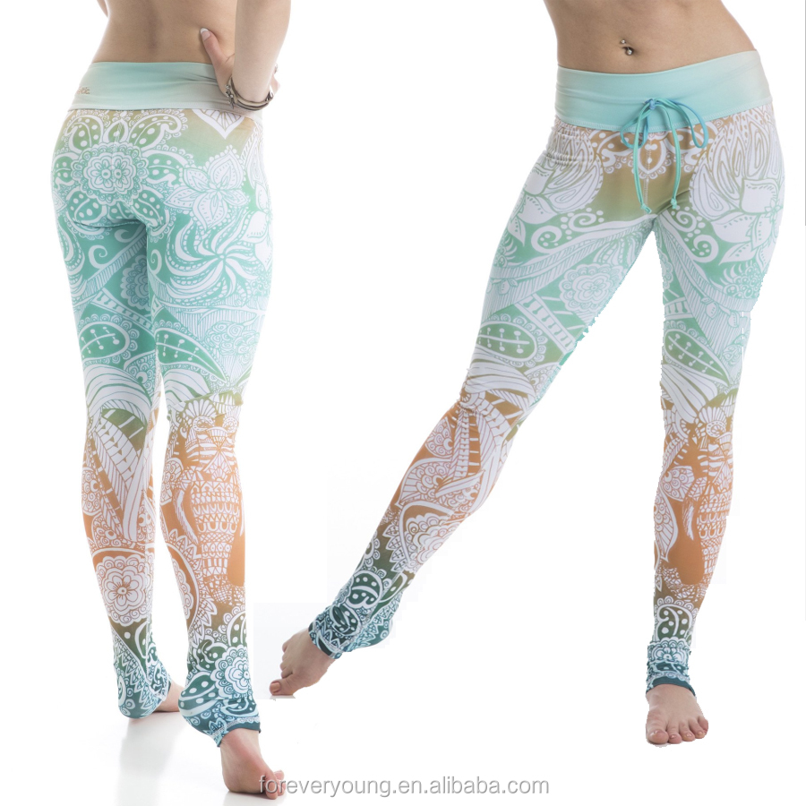 2017 Customized Personal Patterns Hot Girls Yoga Pants