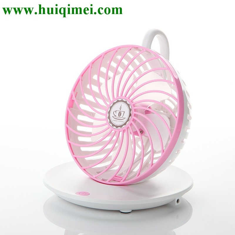 Coffee cup mini fan/colorful lovely party return gifts