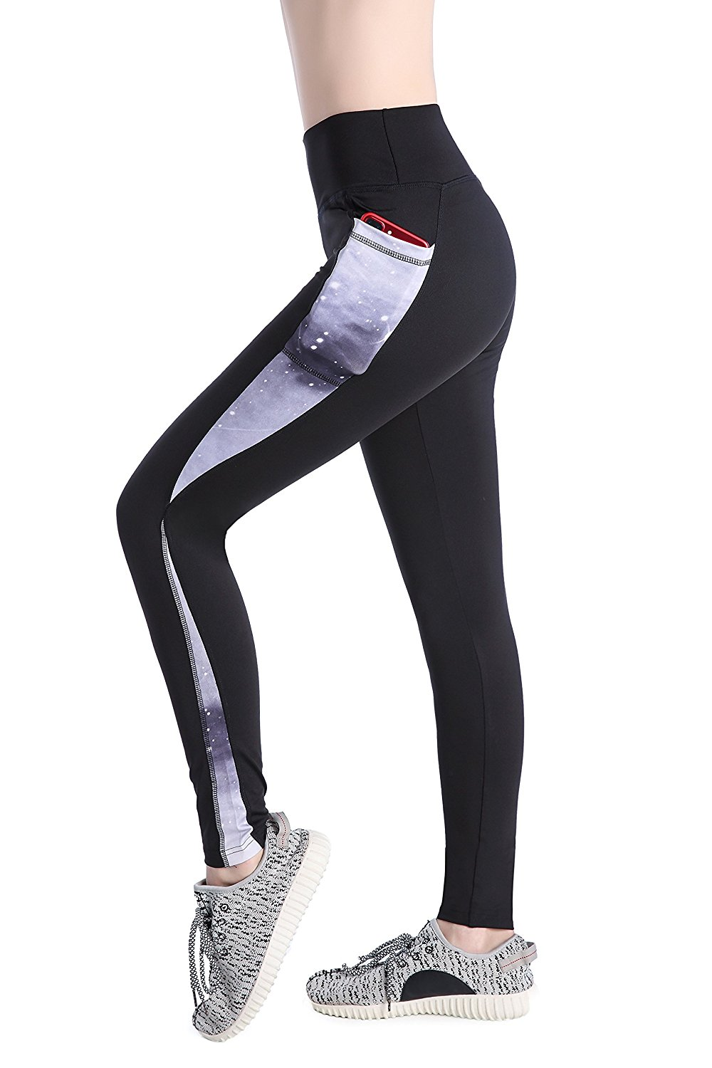 bf1a43defc1a9 Get Quotations · Annjoli Women's Workout Leggings Yoga Running Pants with  Pockets