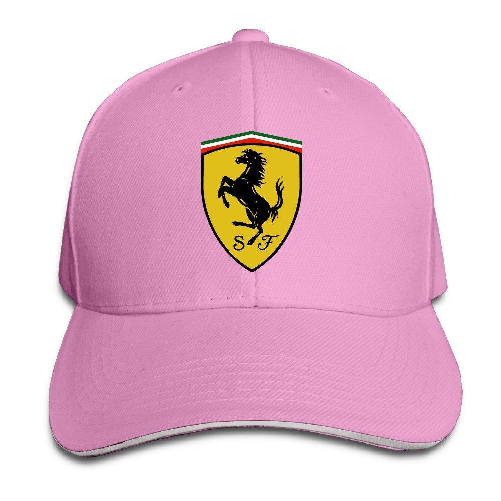 ca79969c48bd0 Get Quotations · MaNeg Ferrari Team Sandwich Peaked Hat   Cap