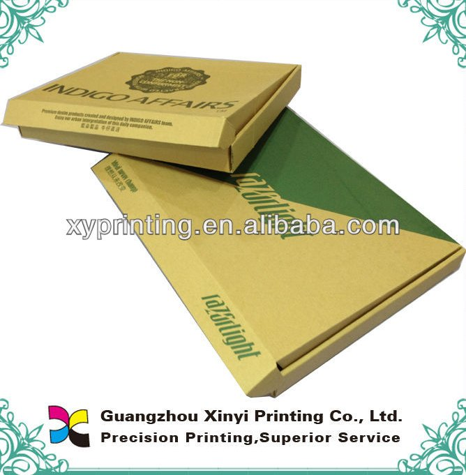 Black printed brown cardboard shipping corrugated boxes