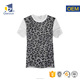 Custom your own design white leopard wholesale t shirts