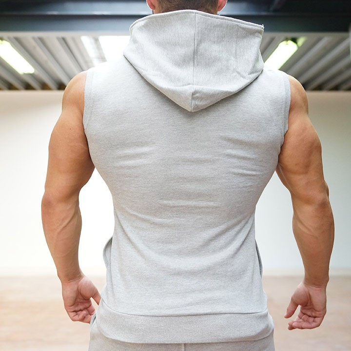 219ca2a162e0ea Mens Gym Shark Hoodies Sleeveless Hooded Bodybuilding Fitness Vest Hoodie  Sweatshirts Gym Tops Masculina Hombre Muscle