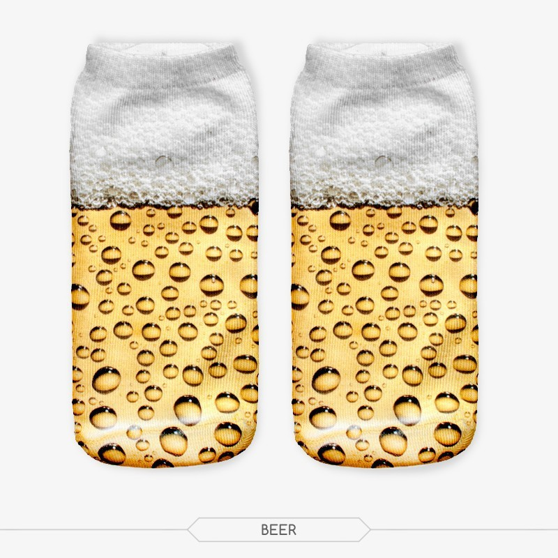 latest fashion digital print wholesale custom knit socks